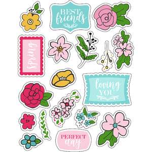 ml floral love stickers