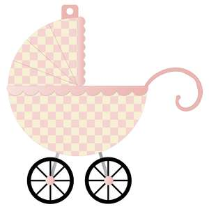 it's a girl banner piece - pink carriage