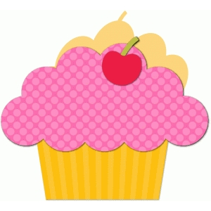 a2 cupcake shaped card