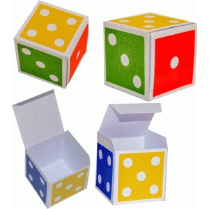 3d dice colorful box