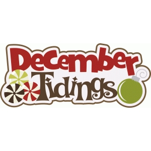 december tidings christmas title