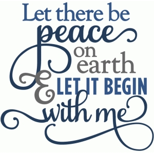 let there be peace on earth - layered phrase