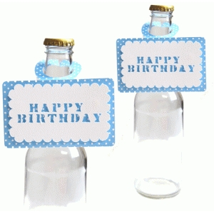 happy birthday bottle topper