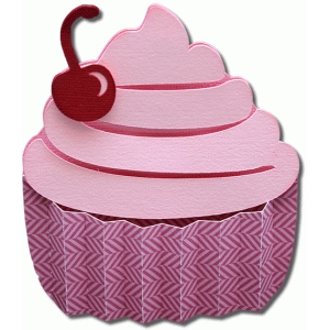 3d accordion cupcake