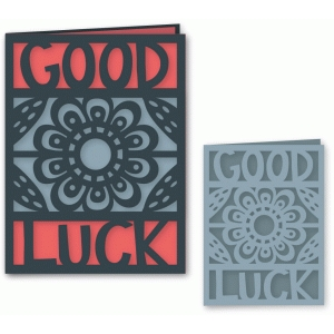 lazy daisy good luck folded card a2