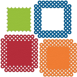 background frame dotted circle squares