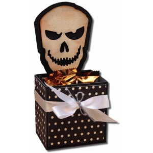 3d skull decorative gift box