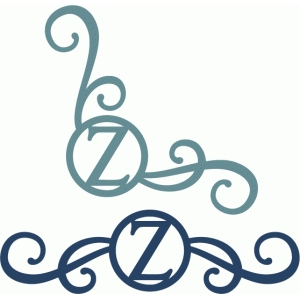 monogram seal flourishes z