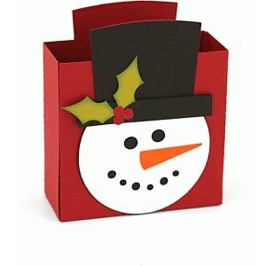 3d large snowman gift box