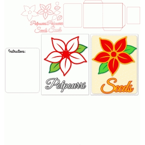 poinsettia seed packet