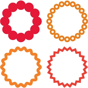 ring embellishments-set of 4