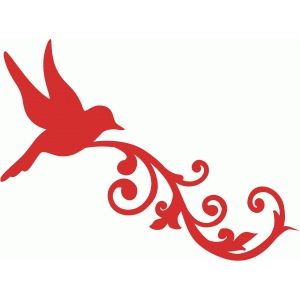 happy bird flourish