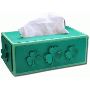 rectangle clover tissue box