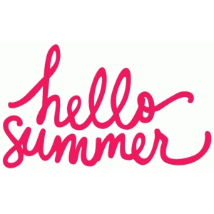 hello summer phrase