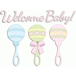 welcome baby rattles