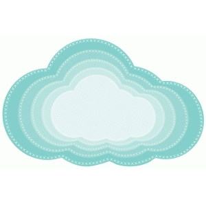 cross stitched nested clouds