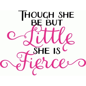 though she be but little, she is fierce