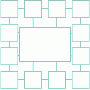 squares page template