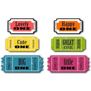 phrase - words- ticket set