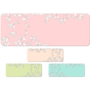 flourish tags, journaling blocks - pastel