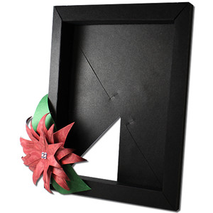 poinsettia 3d 4x6 photo frame