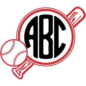 softball round monogram