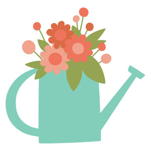 watering can bouquet