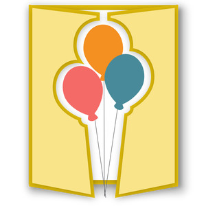 gatefold card - balloons