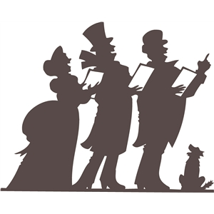 carolers silhouette