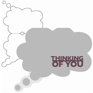 thinking of you thought bubble card