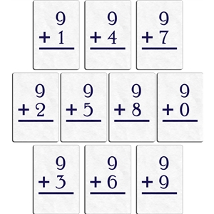flashcard - plus 9