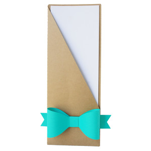 pocket envelope with bow