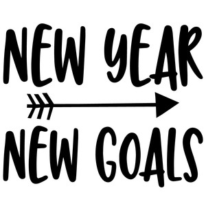 new year new goals arrow quote