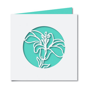 lily cutout square card