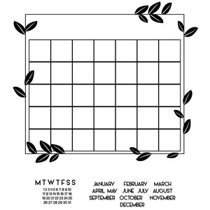 leafy build a calendar grid
