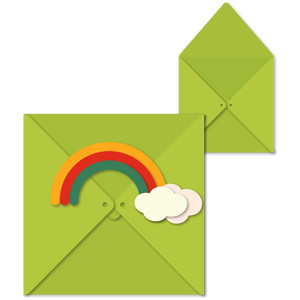 envelope rainbow for box card