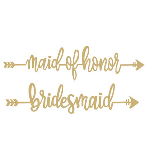 bridesmaid maid of honor wedding phrase