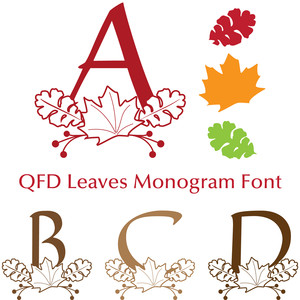 qfd leaves monogram font