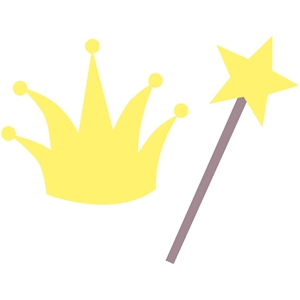 crown and wand