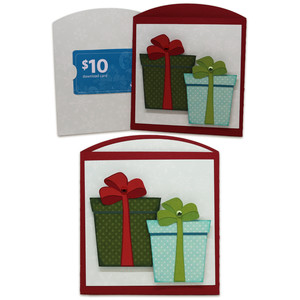 presents gift card envelope