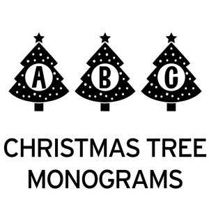 christmas tree monograms