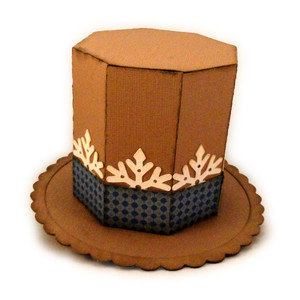 top hat 3d snowflake mini