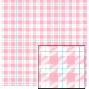 pink pastel buffalo plaid pattern