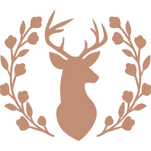 deer head wreath