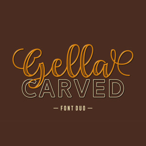 gella carved font duo