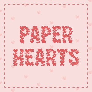paper hearts fonts display
