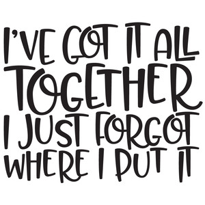 i've got it all together funny quote