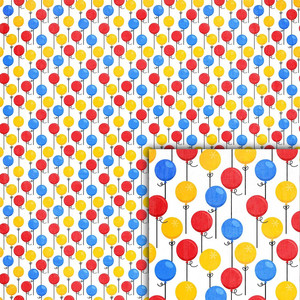 magical balloons background paper