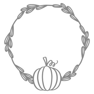 pumpkin leaf circle wreath