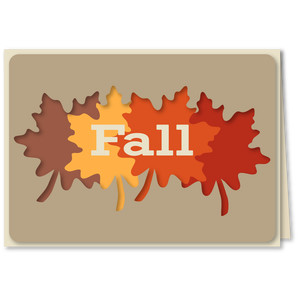 leaves fall overlay 5x7 card